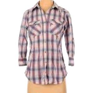 Carhartt Plaid Shirt w/ Roll Tab Sleeves S…